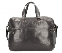 Dorian Aktentasche Leder Laptopfach black suit