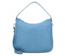 Milano Schultertasche Leder dusk blue