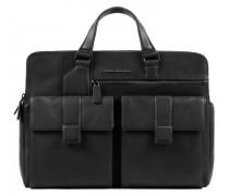 Kobe Aktentasche Leder Laptopfach black