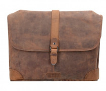 Messenger Leder Laptopfach natur