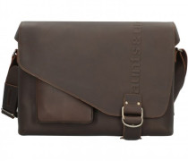 Hunter Big Judd Aktentasche Leder Laptopfach vintage brown