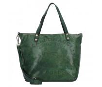 Shopper Tasche Leder green bottle