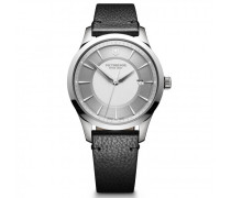 Alliance Quarzuhr Edelstahl silver black