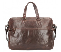 Dorian Aktentasche Leder Laptopfach dark cigar