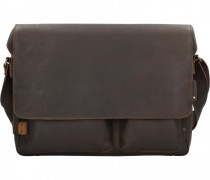 Hunter Travis Aktentasche Leder Laptopfach vintage brown