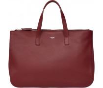 Mayfair Luxe Handtasche Leder burgundy