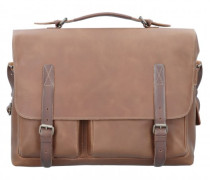 Teachers Pet Aktentasche Leder Laptopfach hazelnut