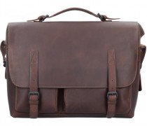 Teachers Pet Aktentasche Leder Laptopfach coffee