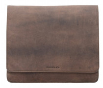 Antic Collection Messenger Leder Laptopfach taupe