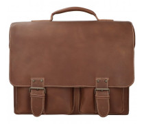 Hunter Big Finn Aktentasche Leder Laptopfach vintage tan