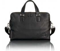 Harrison Seneca Aktentasche Leder Laptopfach black pebbled
