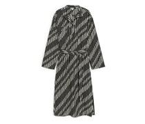 Kleid Mit Gürtel Aus Lyocell-Nylon