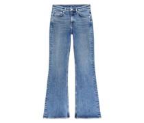 Ausgestellte Stretch-Jeans