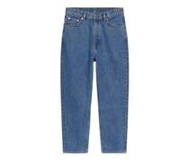 Tapered Jeans In Verkürzter Länge