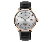 Unisex-Armbanduhr Chronograph Quarz Leder 7068-1