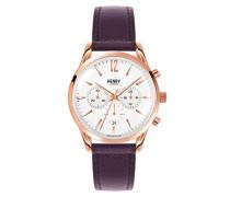 Armbanduhr Hampstead Chronograph Quarz Leder HL39-CS-0090