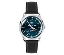 Mondphase Quarz Uhr mit Leder Armband HL39-LS-0071