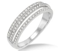 Ring 375 Weißgold mit Brillanten Weiß 0