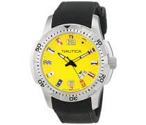 Chronograph Quarz Uhr mit Edelstahl Armband NAI13516G