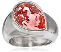 Damen-Ring Amy Edelstahl Zirkonia rosa