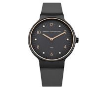 Datum klassisch Quarz Uhr mit Leder Armband FC1301UM