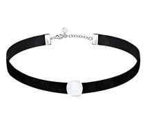 Halskette aus Choker 925 Sterlingsilber Katzenauge SAKK06
