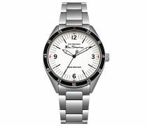 Datum klassisch Quarz Uhr mit Edelstahl Armband BS007WSM
