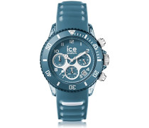 ICE aqua Bluestone - Blaue Herrenuhr mit Silikonarmband - Chrono - 012737 (Large)