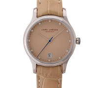 – 139SSSL Armbanduhr – Quarz Analog – Armband Leder beige