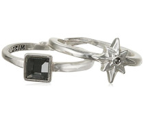 Jewelry Stapel-Ring Messing Kristall Glaskristall Starcross grau