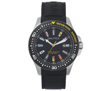 Analog Quarz Uhr mit Silikon Armband NAPJBC003