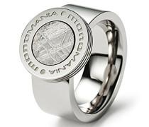 Herren-Ring Edelstahl antiallergen Meteorit 9 mm