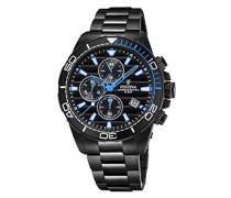 Chronograph Quarz Uhr mit Edelstahl Armband F20365/2