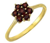 Fascination by Ellen K. Ring 8 Karat (333) Gelbgold Granat rot