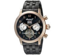 Armbanduhr Chronograph Automatik Edelstahl Schwarz IN1510RBKM