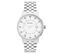 Analog Quarz Uhr mit Edelstahl Armband P10074