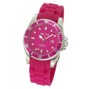 Watches Armbanduhr XL Analog Silikon pink Datum 468000002-3
