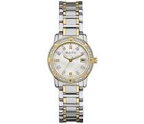 Highbridge Diamond 98W107 - Designer-Armbanduhr - Edelstahl - Goldfarben