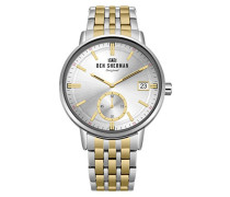 Datum klassisch Quarz Uhr mit Edelstahl Armband WB071GSM