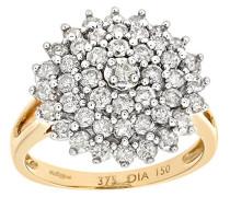 Damen-Ring 375 Gelbgold 19 Topas 9 Karat