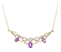 Damen-Halskette 9 Karat 375 Gelbgold PNE01691Y AM
