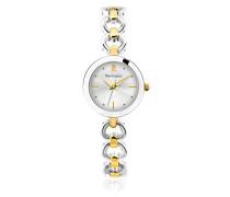 047j721 – Elegance Seduction Armbanduhr 045J699 Analog Silber Armband Messing zweifarbig
