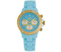 Armbanduhr für mit Analog Anzeige, Quarz-Uhr und Polycarbonatarmband - Wasserdichte Damenuhr mit zeitlosem, schickem Design - klassische