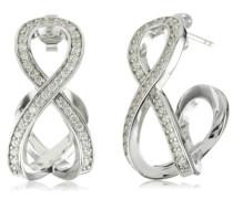 Ohrstecker 925 Sterling Silber rhodiniert Kristall Zirkonia Interlace weiß ESER91257A000