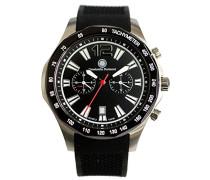 Armbanduhr Buster Analog Quarz Kautschuk CD-BUST-QZ-RB-STIP-BK