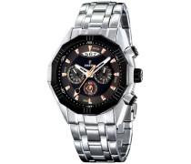 Armbanduhr XL Chronograph Quarz Edelstahl F16383/4