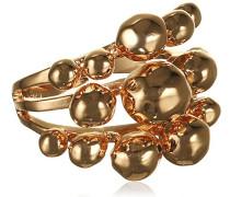 Damen-Ring Orb Vergoldet teilvergoldet
