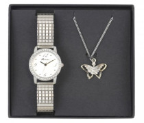 Armbanduhr Analog Quarz Edelstahl beschichtet RJS-003
