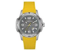 Herren-Armbanduhr Analog Quarz Silikon NAI12520G