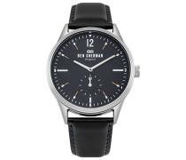 Datum klassisch Quarz Uhr mit Leder Armband WB015UB